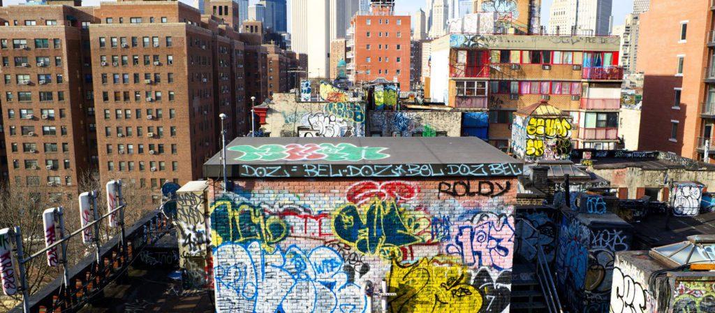 New York Skyline, Graffiti