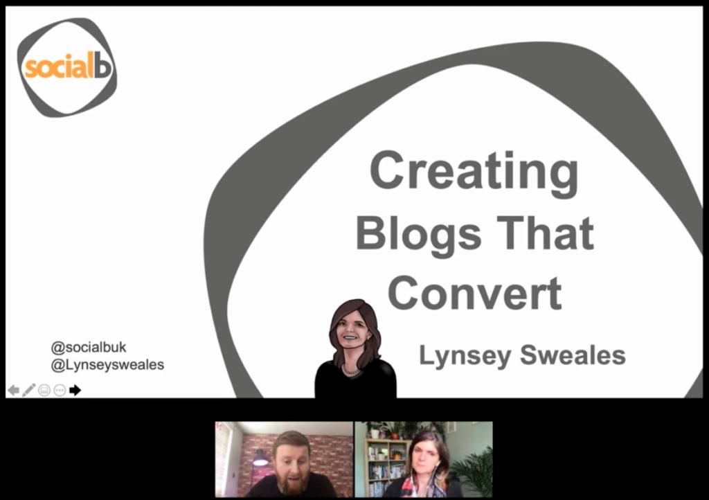 Creating blogs that convert webinar