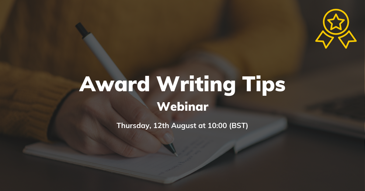 Award writing tips webinar