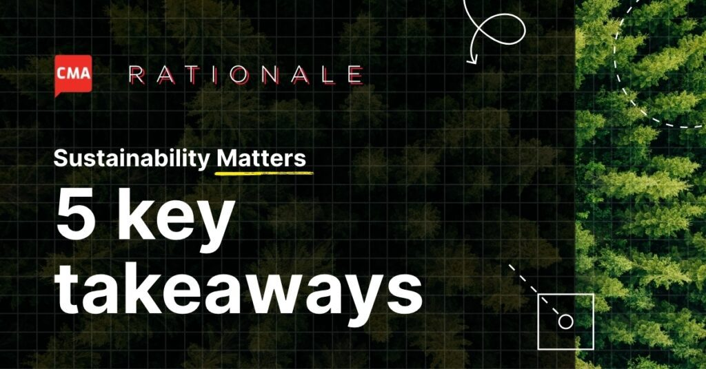 Rationale– sustainability matters