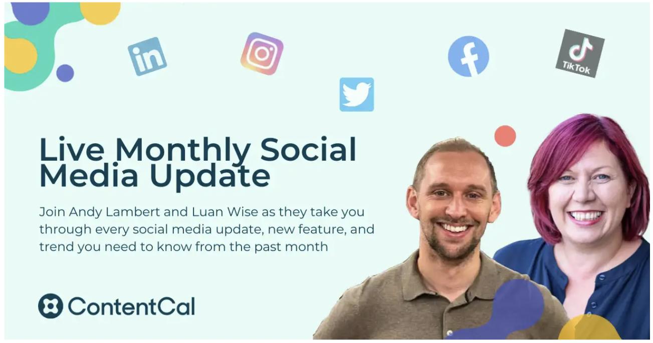 contentcal social media updates webinar